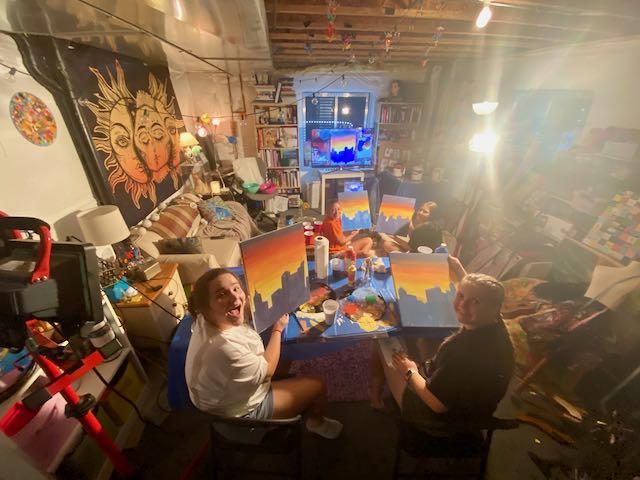 Phia and Crew Painting