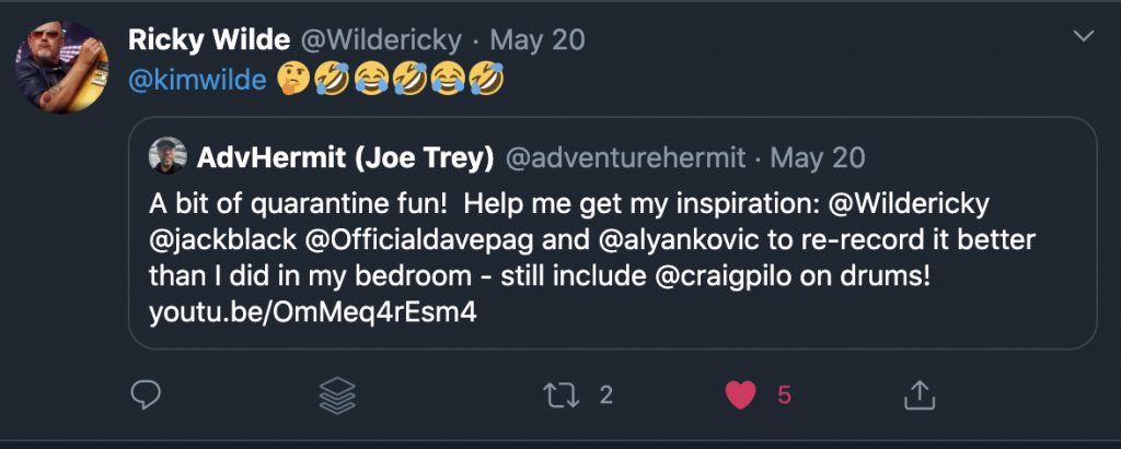 Rickey Wilde Re-Tweet