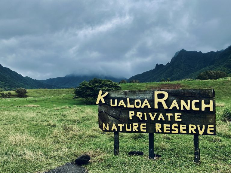 Kualoa Ranch Sign