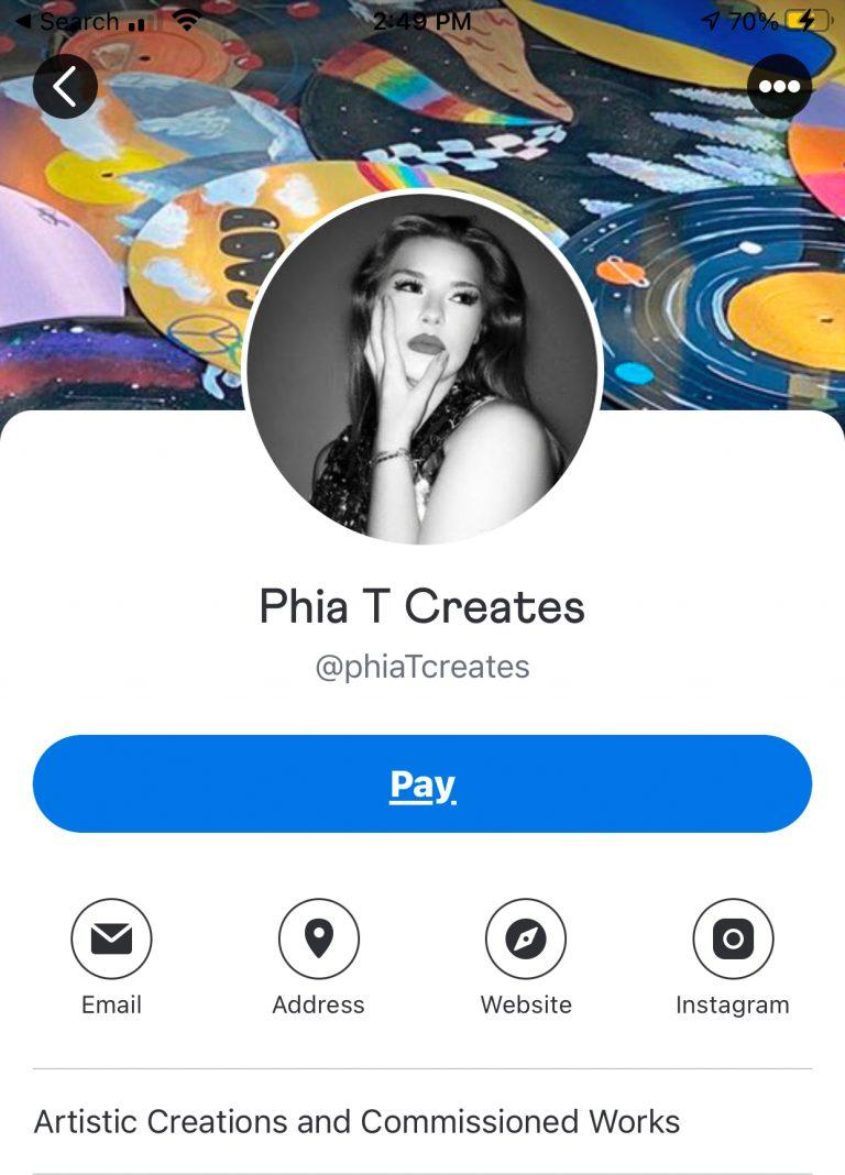 phia Venmo Biz Page